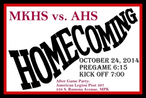 All Alumni are welcome to join the Homecoming game Playing against Alhambra High. October 24th, 2014    Kickoff is at 7p